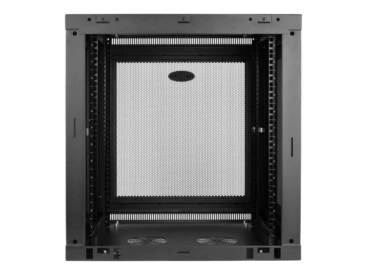 Tripp Lite SmartRack 12U Low-Profile Switch-Depth-Plus Wall-Mount Rack Enclosure Cabinet, SRW12UDP