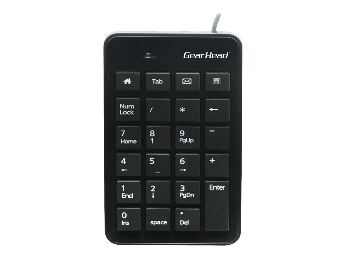 Gear Head 23-Key Numeric Keypad Plug-n-Play Compatibility