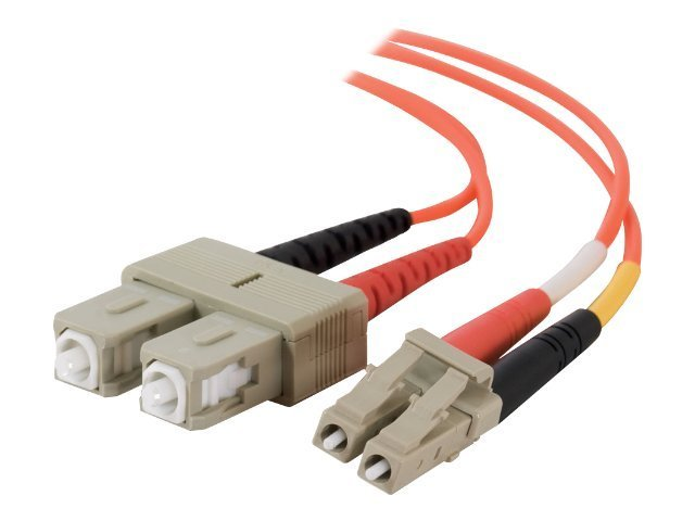 C2G Fiber Optic Cable, LC-SC, 62.5 125um, Duplex Multimode, 3m