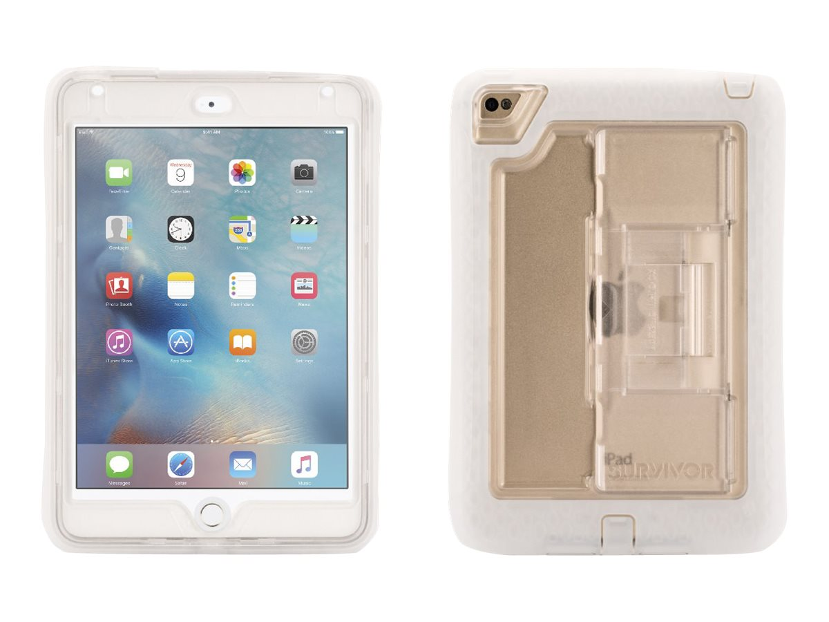 Griffin Survivor Slim Military Duty Anti-Shock Case w  Stand for iPad mini 4, Clear