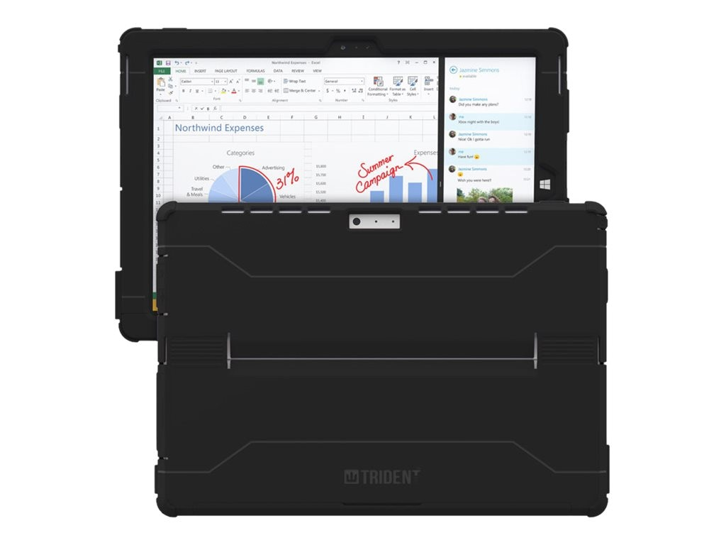 Trident Case 2014 Cyclops Antimicrobial Case for Surface Pro 3, Black, CY-MSSFP3-BKAMB