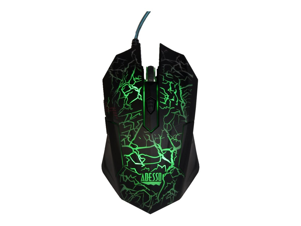 Adesso Illuminated Gaming Mouse, Green, Blue, Red, IMOUSEG3, 17398254, Mice & Cursor Control Devices
