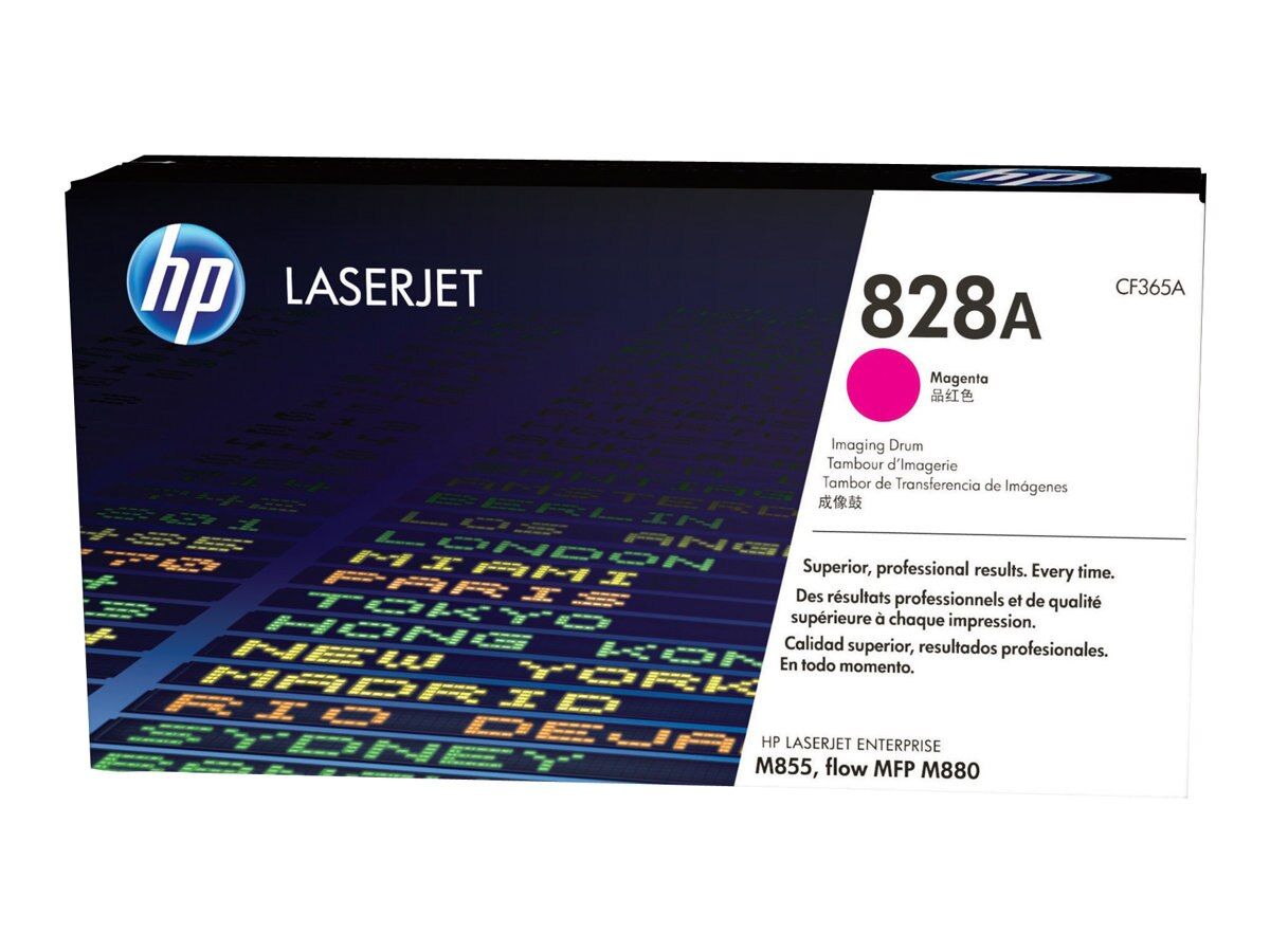 HP 828A Magenta LaserJet Imaging Drum for HP Color LaserJet Enterprise M855 Series, CF365A, 16433863, Toner and Imaging Components