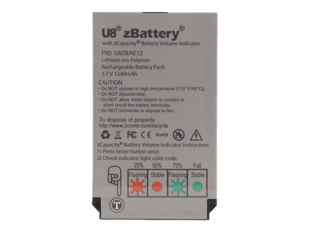 Zcover Ultra Extended Battery for Cisco 7926 7925 Lithium-Ion Polymer, U8ZBAE12