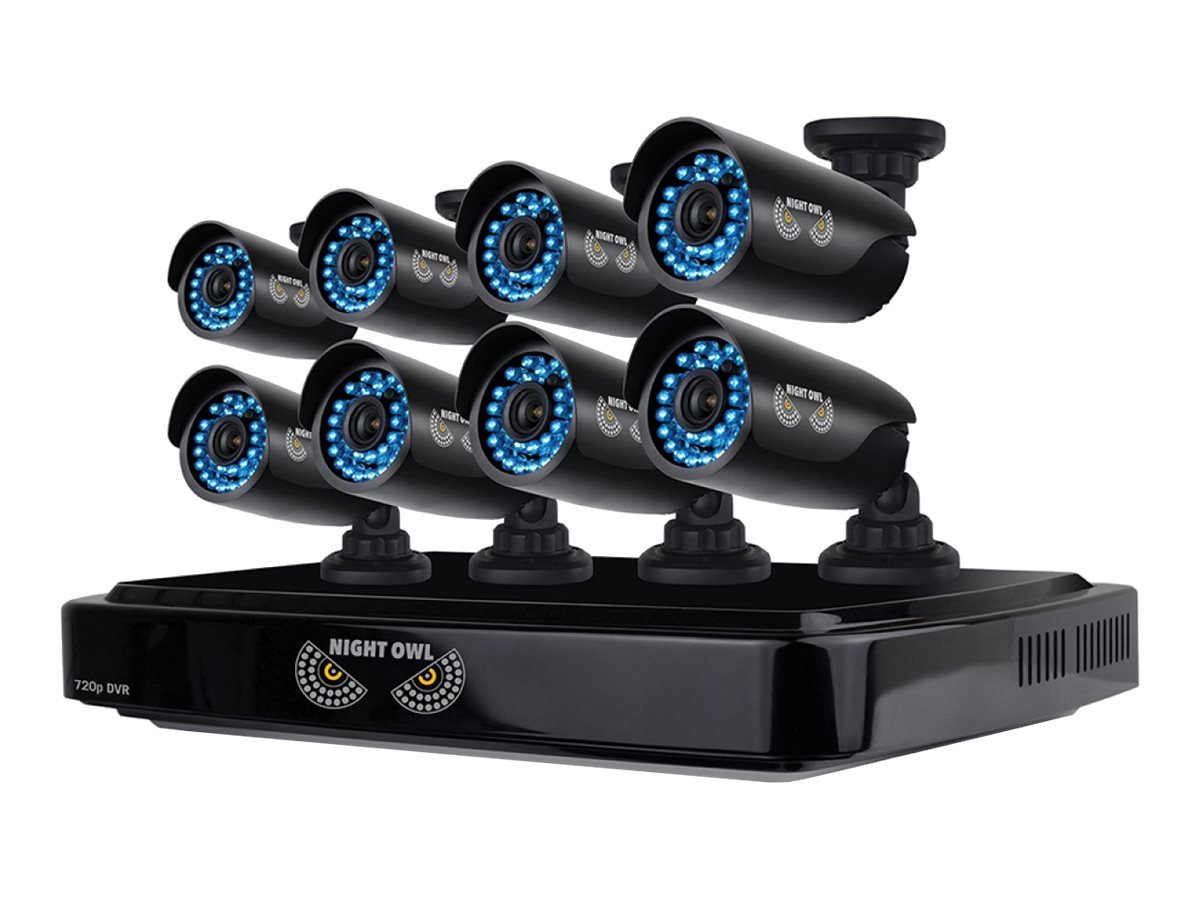 Night Owl 8 Channel Smart HD Video Security System with 2TB HDD and 8x 720p HD Cameras