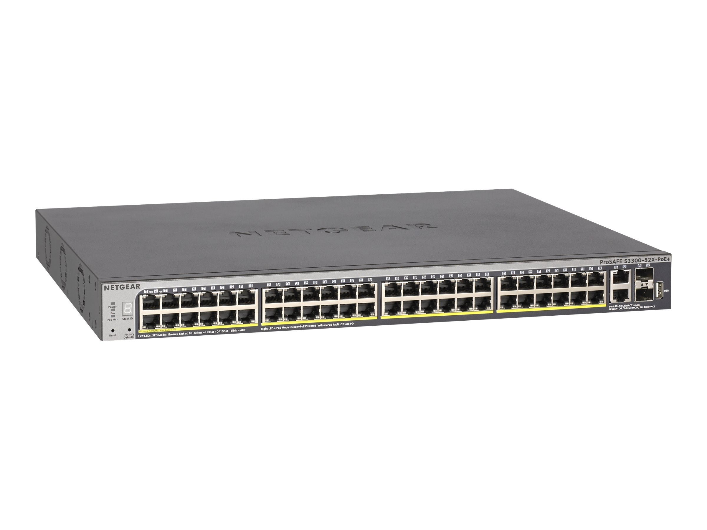 Netgear S3300 52-Port Stackable POE Smart Switch, GS752TXP-100NES