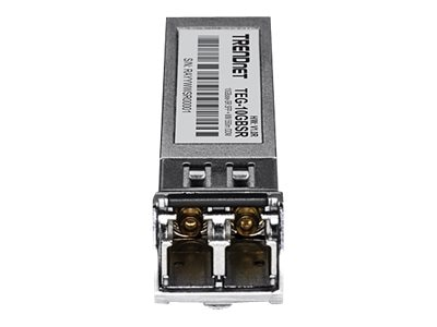 TRENDnet 10GBASE-SR SFP+ Multi Mode LC Module 550 m (1,804 ft) w DDM, TEG-10GBSR, 30922145, Network Transceivers