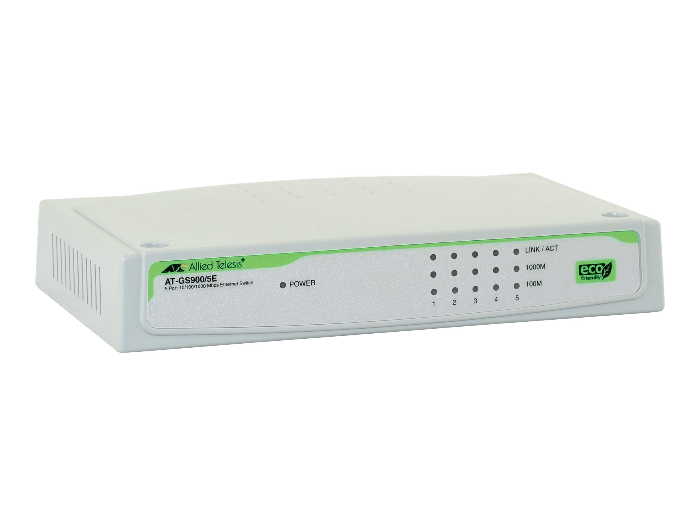Allied Telesis 5-Port 10 100 1000BaseT Unmanaged-Gigabit Switch EXP PS, AT-GS900/5E-10, 7307689, Network Switches