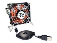 Thermaltake Mobile Fan II External USB Powered Cooling Fan for Notebooks, A1888, 6583382, Cooling Systems/Fans