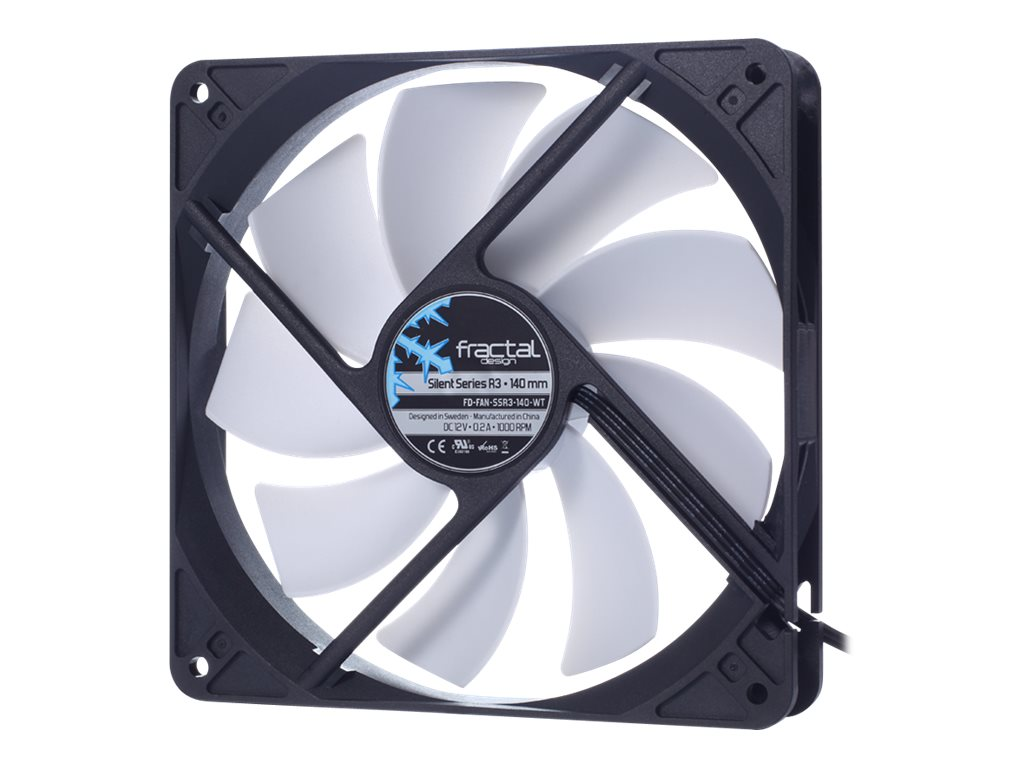 Fractal Design Silent Series R3 140mm Fan, FD-FAN-SSR3-140-WT, 19210462, Cooling Systems/Fans