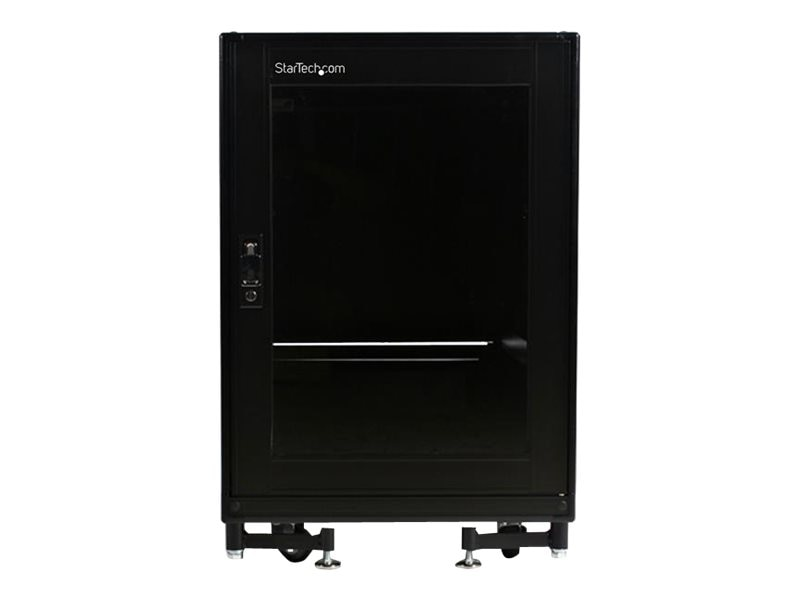 StarTech.com 15U 19in Black Server Rack Cabinet with Fans