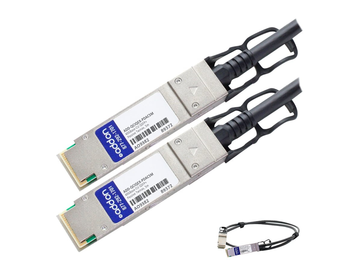ACP-EP 40GBase-CU QSFP+ to QSFP+ Passive Twinax Direct Attach Cable, 5m, ADD-QCIQEX-PDAC5M
