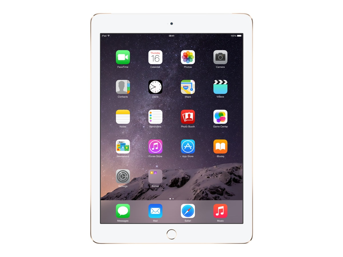 Apple iPad Air 2, 128GB, Wi-Fi+Cellular for Apple SIM, Gold, MH332LL/A, 17954644, Tablets - iPad