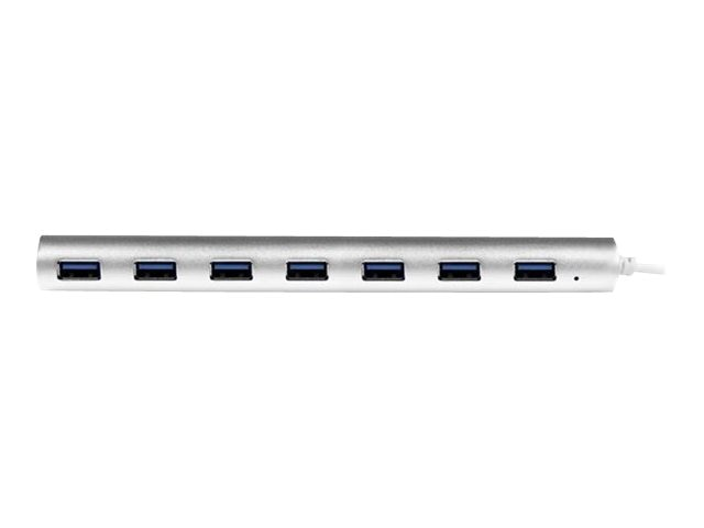 StarTech.com 7-Port Compact USB 3.0 Hub w Built-in Cable, ST73007UA