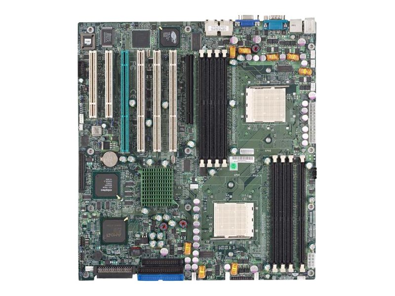 Supermicro Motherboard, 8131 HT Tunnel, Dual Opteron 200 DC, EATX, Max. 32GB DDR, 4PCIX, 2PCI, GBE, Video, IDE, MBD-H8DAE-O, 7159559, Motherboards