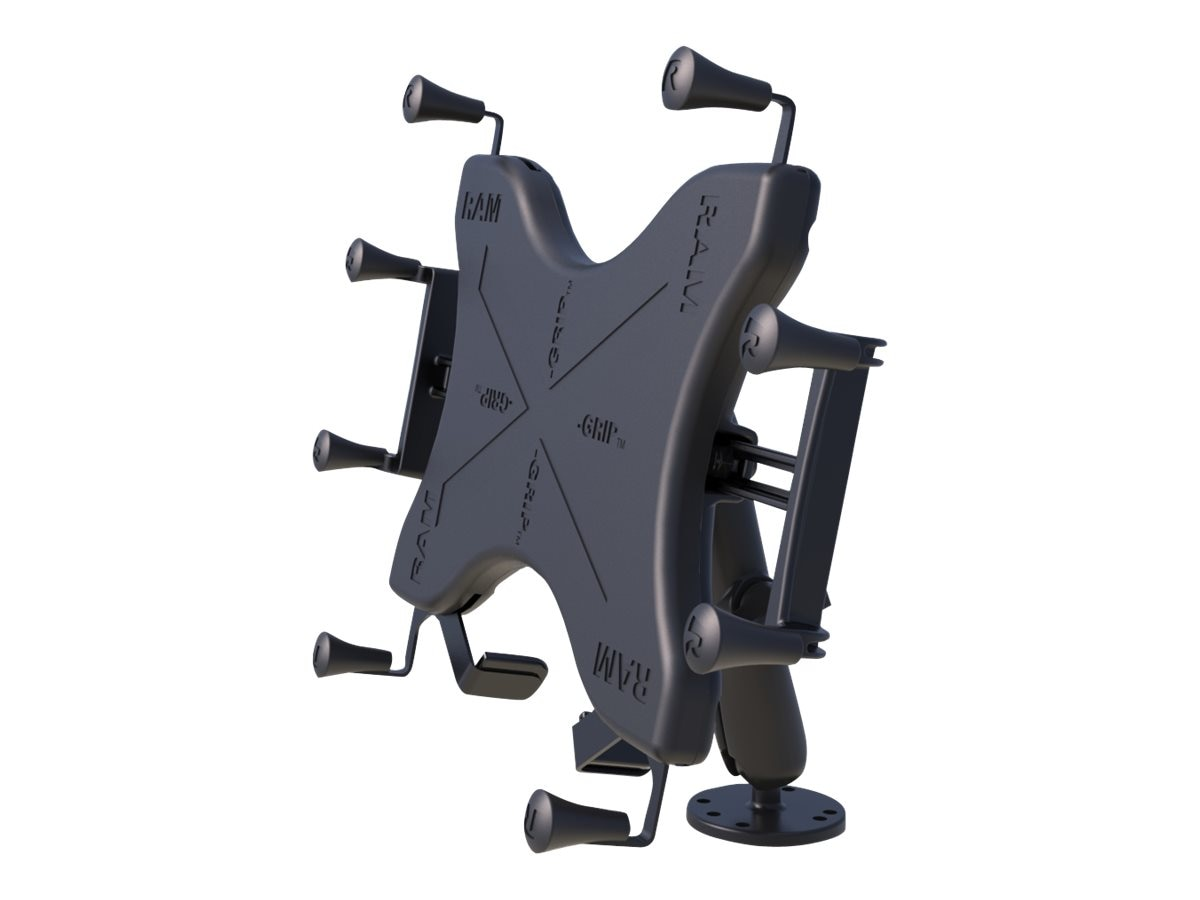 Ram Mounts Flat Surface Mount for 12 Tablets with Long Double Socket Arm, Univeral Grip, RAM-B-101-C-UN11U, 30655260, Stands & Mounts - AV