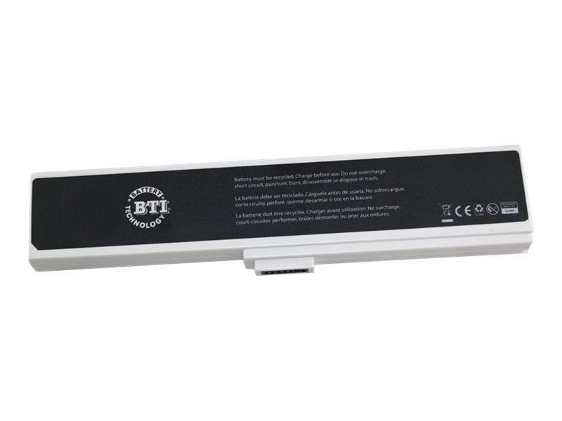 BTI Battery for Asus W7 W7E W7F W7J W7S, White, AS-W7W