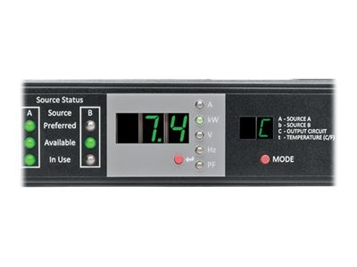 Tripp Lite ATS Monitored PDU 7.4kW 230V Single-Phase, 1U, (2) IEC309 32A Blue Input, IEC309 32A Blue Outlet, PDUMNH32HVAT