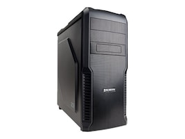 Zalman Chassis, Z3 Mid Tower ATX 4x3.5 Bays 2x5.25 Bays 7xSlots 3xFans, Black, Z3, 16916751, Cases - Systems/Servers