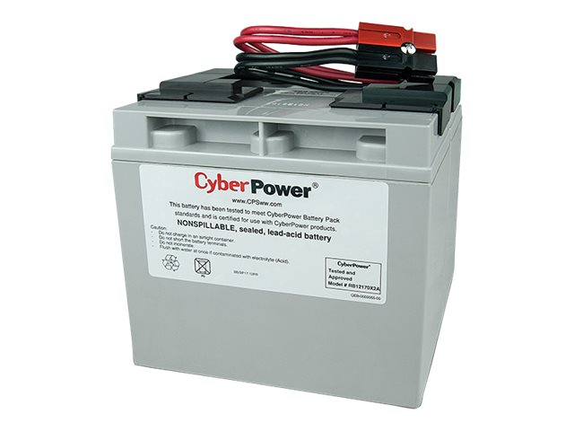 CyberPower Replacement Battery Pack 12V 17Ah, Pre-assembled for PR1500LCD UPS, RB12170X2A, 22248402, Batteries - Other