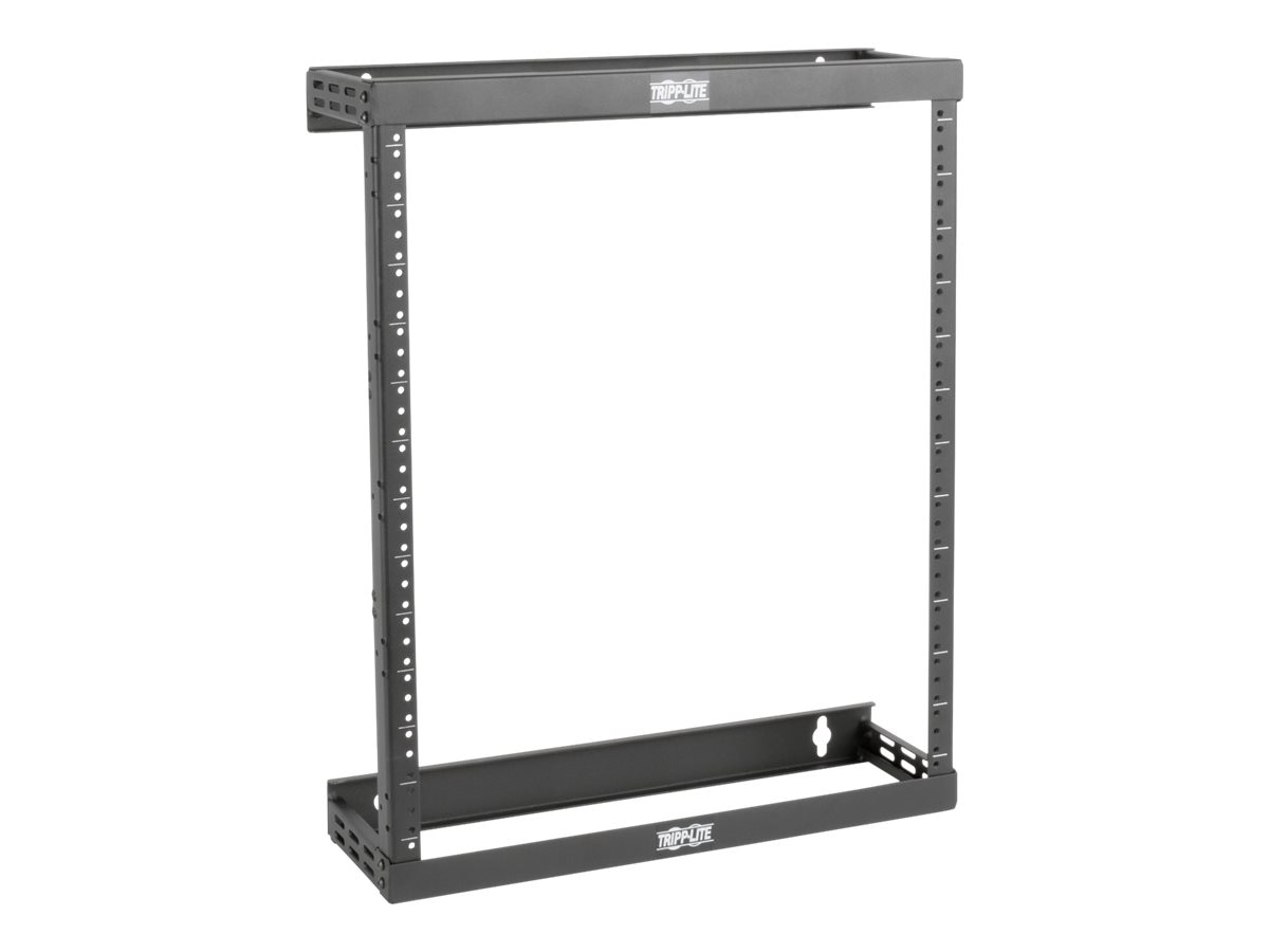 Tripp Lite SmartRack 8U 12U 22U Expandable Ultra Low-Profile Patch-Depth Wall-Mount 2-Post Open Frame Rack, SRWO8U22SD