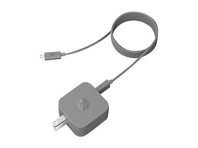 HP 10W PC USB AC Adapter for Tablets, G4H09AA, 19600604, AC Power Adapters (external)
