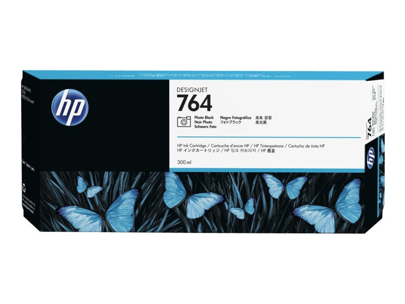 HP 764 (C1Q17A) 300ml Photo Black Designjet Ink Cartridge
