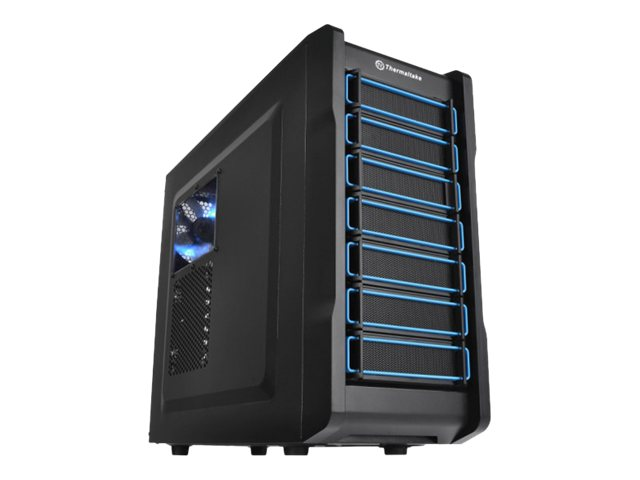 Thermaltake Chassis, Chaser A21 Mid Tower ATX 6x3.5 Bays 3x5.25 Bays 7xSlots No PSU, Black