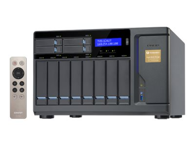 Qnap High Performance 12-Bay 8+4  Thunderbolt 2 DAS NAS iSCSI IP-SAN