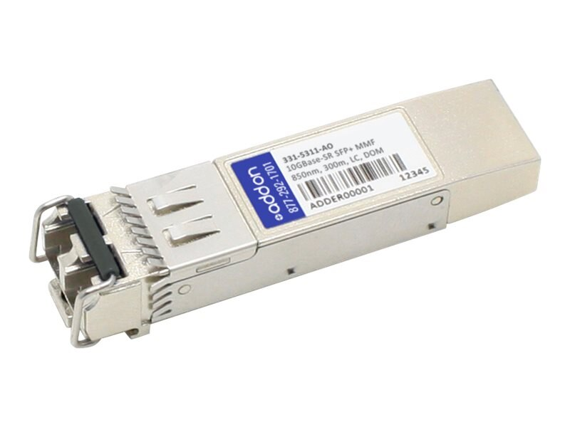 ACP-EP SFP+ 300M SR LC TAA XCVR 10-GIG SR DOM LC Transceiver for Dell, 331-5311-AO