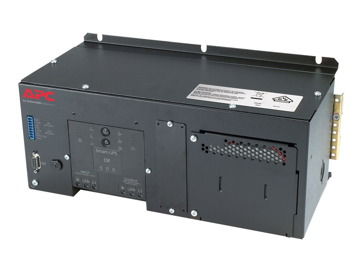 APC DIN Rail Panel Mount UPS with High Temp Battery 500VA 230V, SUA500PDRI-H