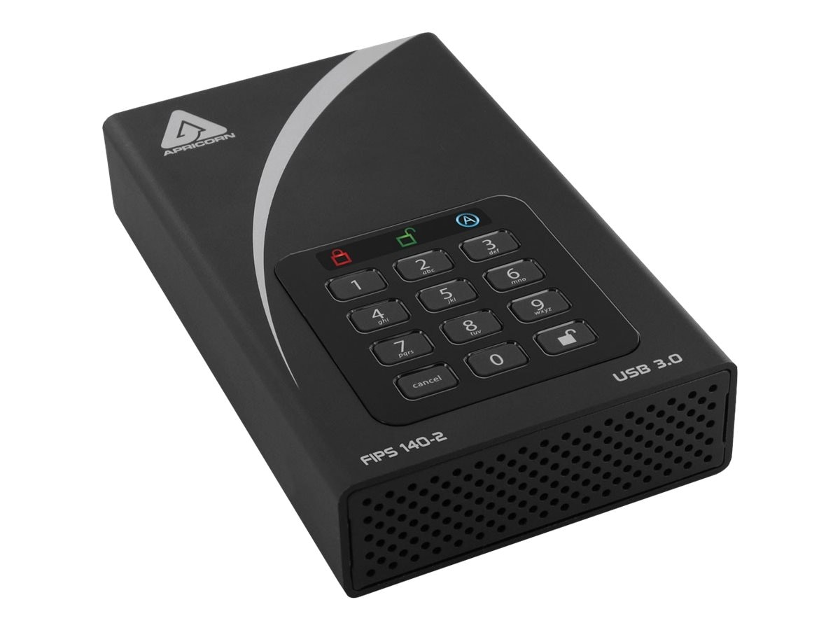 Apricorn 8TB Aegis FIPS Validated DT Secure USB 3.0 256-Bit External Hard Drive, ADT-3PL256F-8000