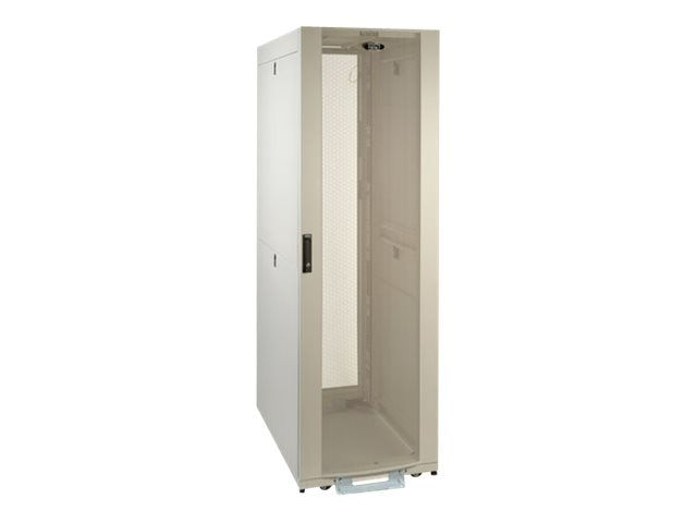 Tripp Lite 42U SmartRack Premium Enclosure, Doors and Side Panels, Shock Pallet, White