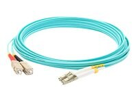 ACP-EP LOMM OM4 Fiber Optic Male LC LC 50 125 Duplex Cable, Aqua, 25m