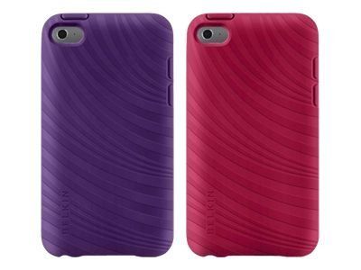 Belkin Essential 023 Case for iPod Touch 4G, Purple Lightning & Paparazzi Pink (2-Pack), F8W012EBC01-2, 13625819, Digital Media Player Accessories - iPod