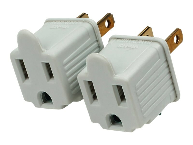 CyberPower 3-Prong to 2-Prong Power Adapter, 2-Pack