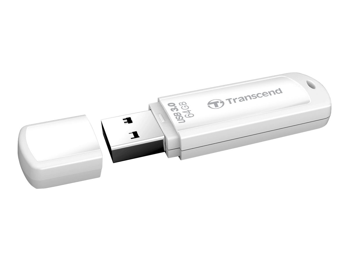 Transcend 64GB JetFlash 730 USB 3.0 Flash Drive, White