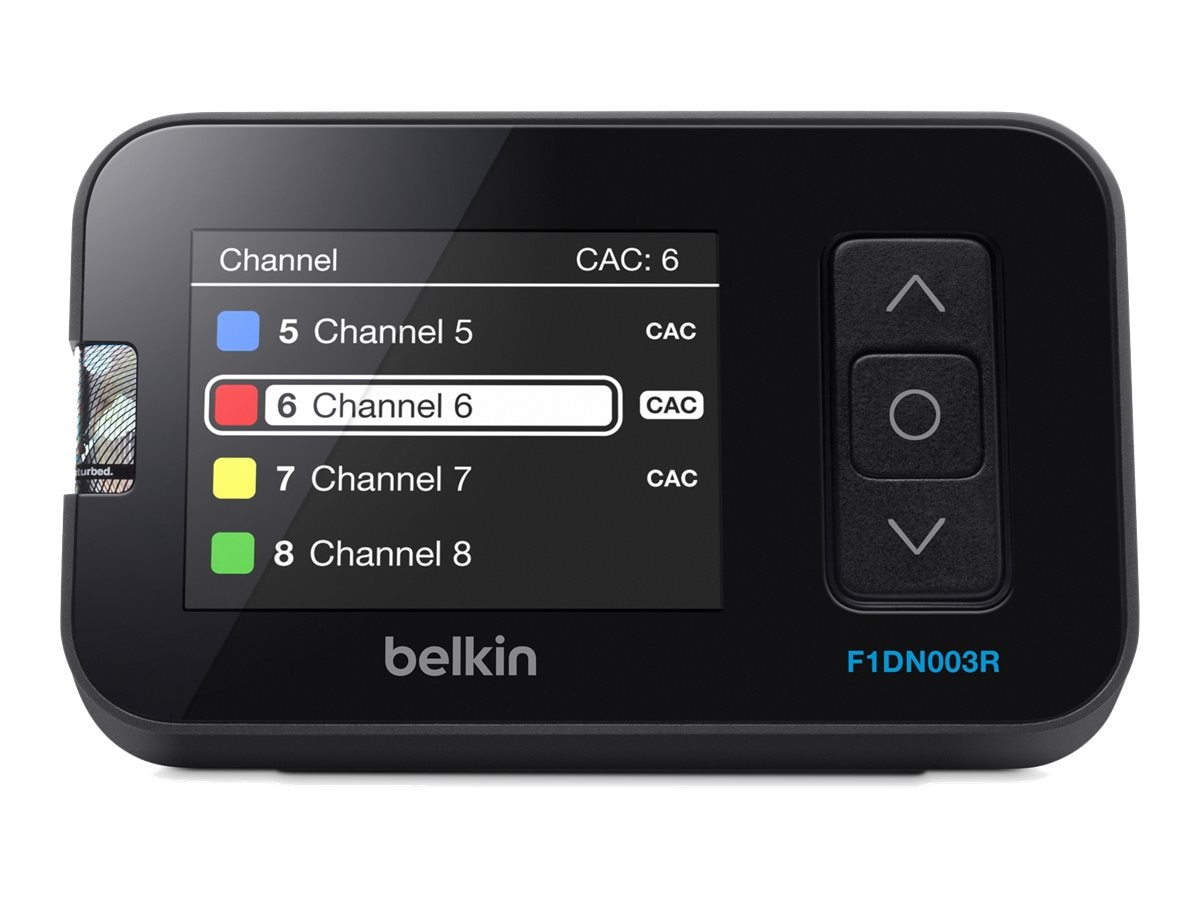 Belkin 3-Button Desktop Controller Unit w  LCD for 2 16-port Secure KVM Switches, F1DN003R