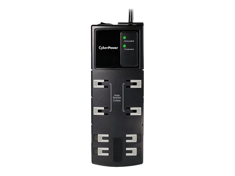 CyberPower Essential Series Home Office Surge Suppressor 1800 Joules, (8) Outlets, 6ft
