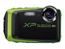 Fujifilm FinePix XP90 Waterproof WiFi Camera, 16.4MP, 5x Zoom, Lime, 16500208, 31271575, Cameras - Digital