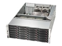Supermicro SuperChassis 846BE26 4U RM (2x)Intel AMD Family 24x3.5 HS Bays 7xExpansion Slots 5xFans 2x1280W RPS, CSE-846BE26-R1K28B, 15274047, Cases - Systems/Servers