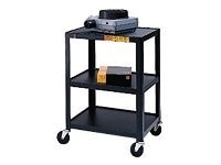 Bretford Manufacturing 34 A V Cart with Three Shelves, Black, 34-E4, 5482563, Computer Carts