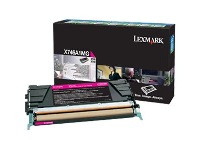 Lexmark Magenta Return Program Toner Cartridge for X746de & X748 Color Laser MFP Series, X746A1MG