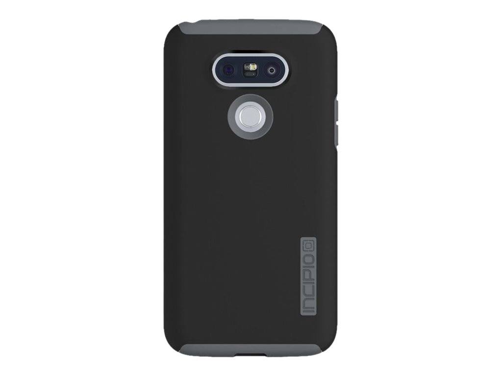 Incipio DualPro Hard Shell Case w  Impact-Absorbing Core for LG G5, Black Charcoal, LGE-293-BKCH