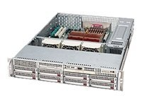 Supermicro Chassis, 2U Rackmount, Dual Xeon, EATX, 8 3.5 HS Bays, 700W RPS, Silver, CSE-825S2-R700LPV, 7640570, Cases - Systems/Servers