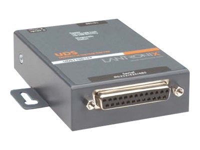 Lantronix UDS1100-IAP Device Server with International Power Supply, 1 Port 10 100 RS232 422 485, UD1100IA2-01, 6829282, Remote Access Servers