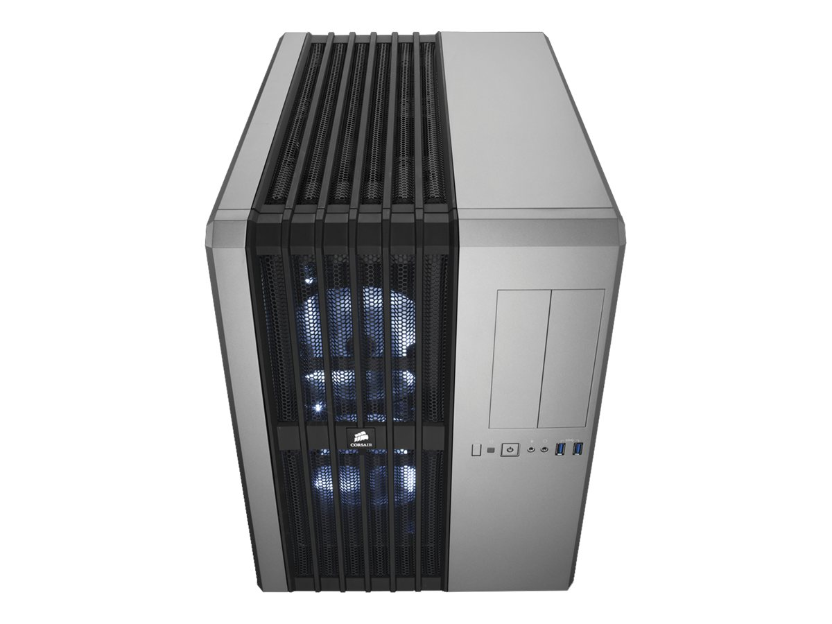 Corsair Chassis, Carbide Series Air 540 High Airflow MT Cube ATX 6x2.5 Bays 2x5.25 Bays 8xSlots, Silver, CC-9011034-WLED