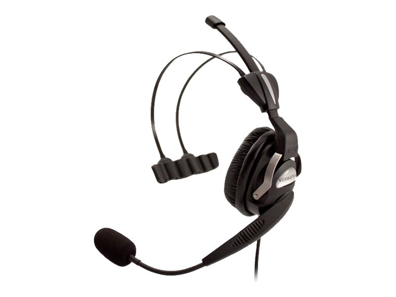 LXE Lightweight Single Ear Dual Over The Head Headband Headset, RH760