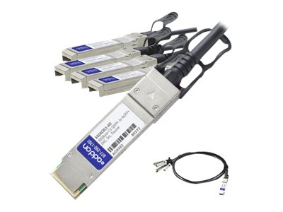ACP-EP Ethernet QSFP+ to 4 SFP Passive Twinax Breakout Cable, 5m
