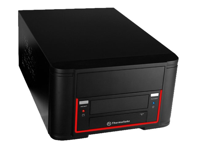 Thermaltake Chassis, Element Qi Mini-ITX 2x3.5 Bays 1x5.25 Bay 2xUSB 3.0, Black, VL520B1N2U, 16353871, Cases - Systems/Servers